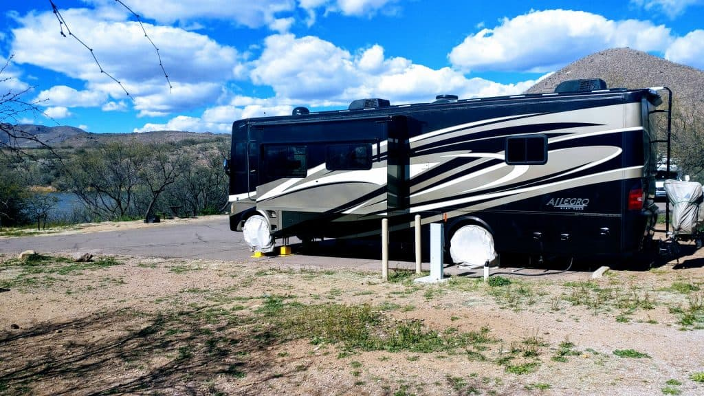 Campsite Patagonia Lake State Park Arizona