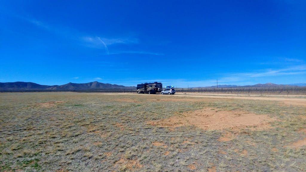 Campsite Golden Rule Vineyards Willcox Arizona
