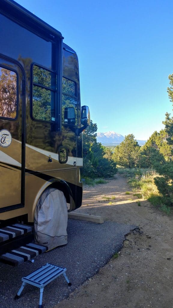 Campsite Lathrop State Park just west of Walsenburg Colorado