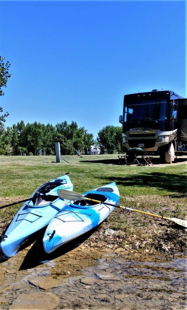 Campsite at Belle Fourche South Dakota