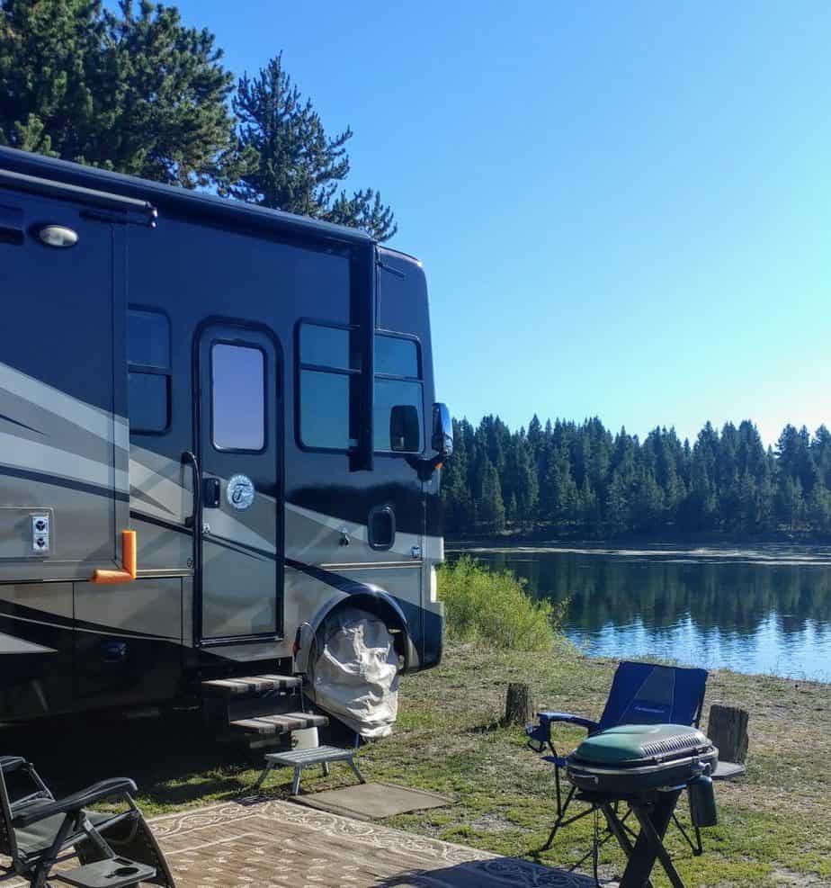 Campsite Hebgen Lake West Yellowstone Montana
