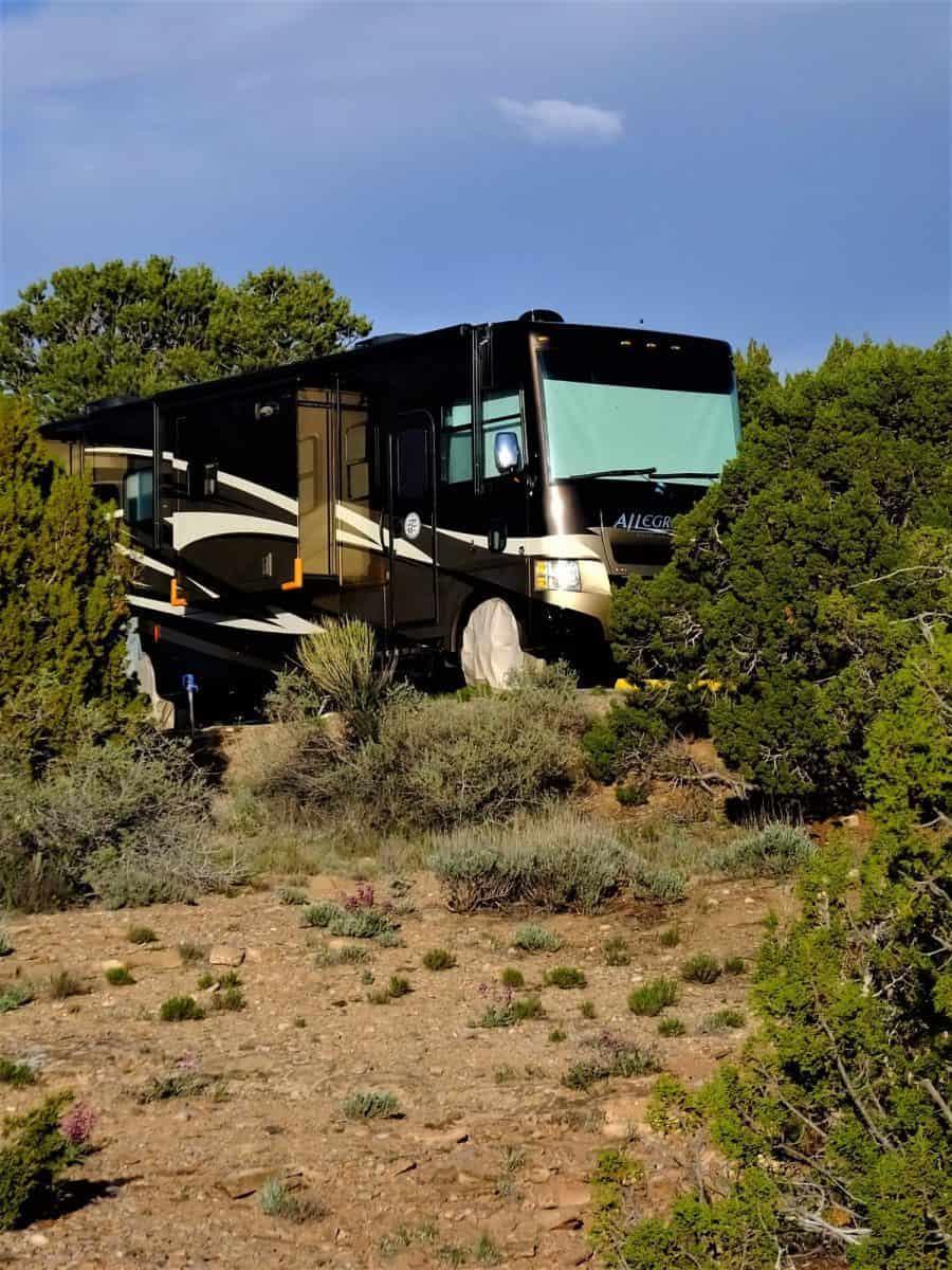 Campsite Abiquiu Lake Gallina New Mexico