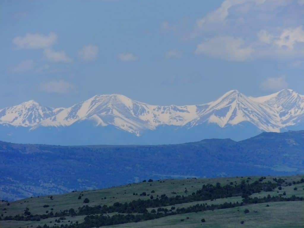 View from Lathrop State Park just west of Walsenburg Colorado