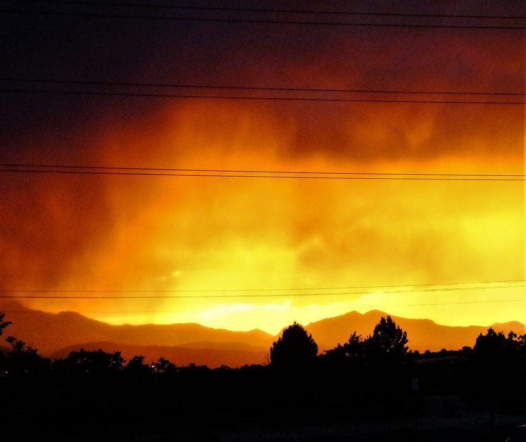 View Sunset Rocky Mountains Firestone Colorado