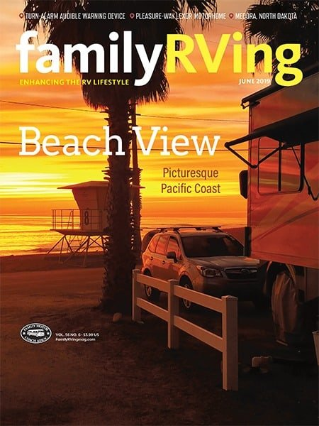 Family RV magazine cover photo