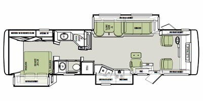 Tiffin 34TGA floor plan graphic