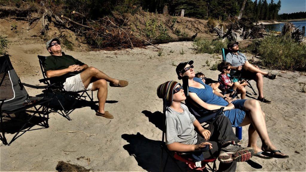 Total Eclipse Viewing, Campsite, Cascade Lake, Cascade Idaho