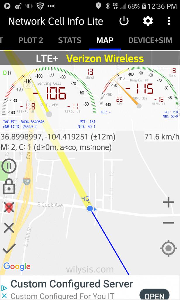 Screenshot Network Cell Info Lite