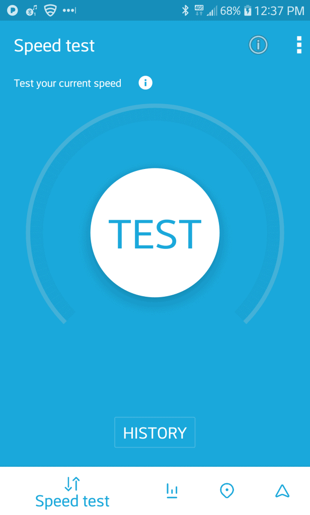 Screenshot Open Cell Phone Signal Data Speed Test