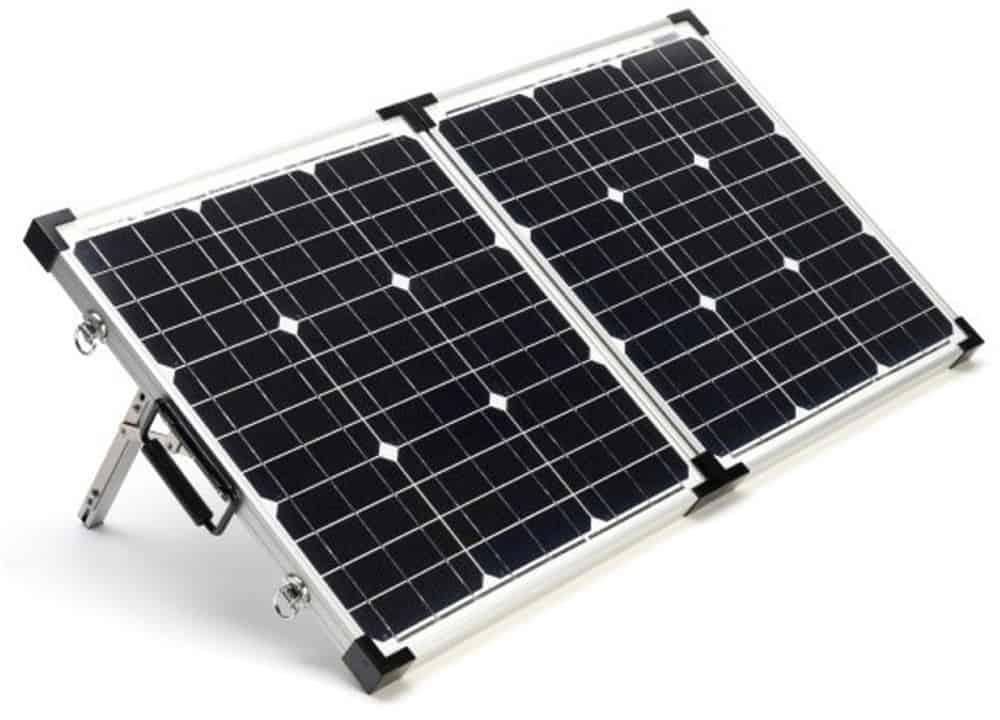 Photo portable folding solar panel stock