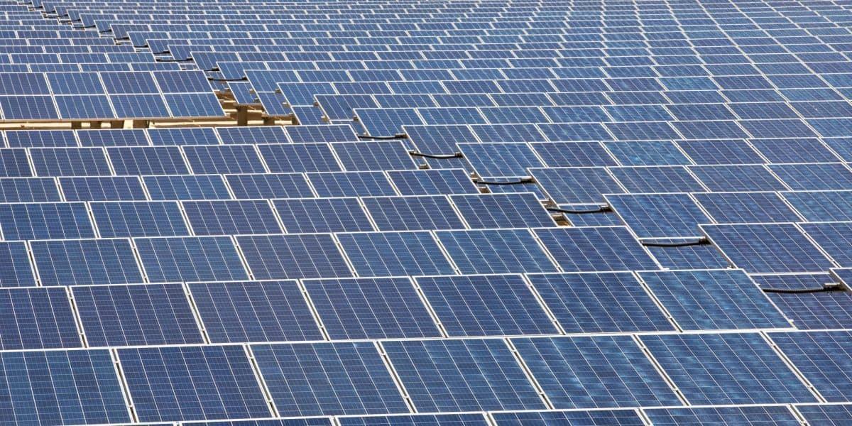stock photo solar-panel-field