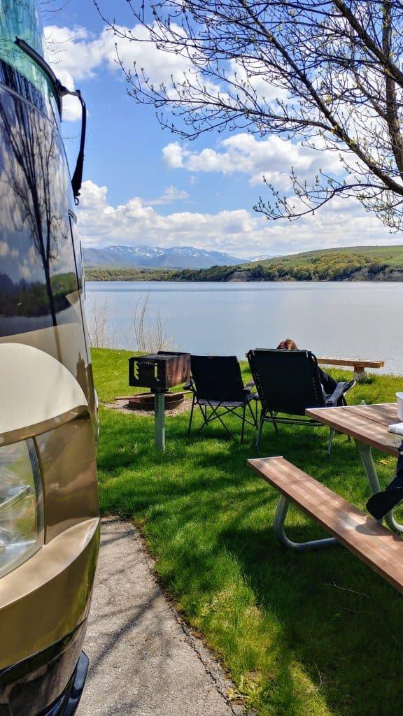 Lake View, Campsite, view, Hyrum Lake State Park, Logan, Utah