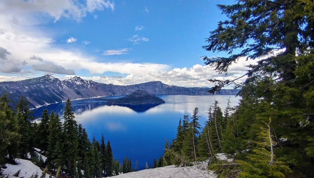 Crater Lake with Wizard Island Oregon