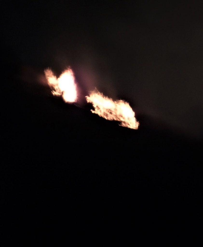 Night Brush Fire, San Diego, California
