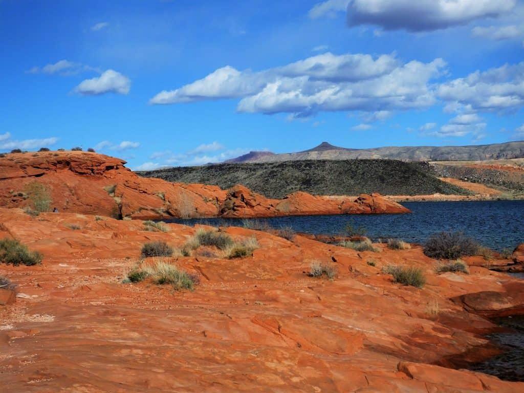 View of Sand Canyon Recreation area, Saint George, Utah