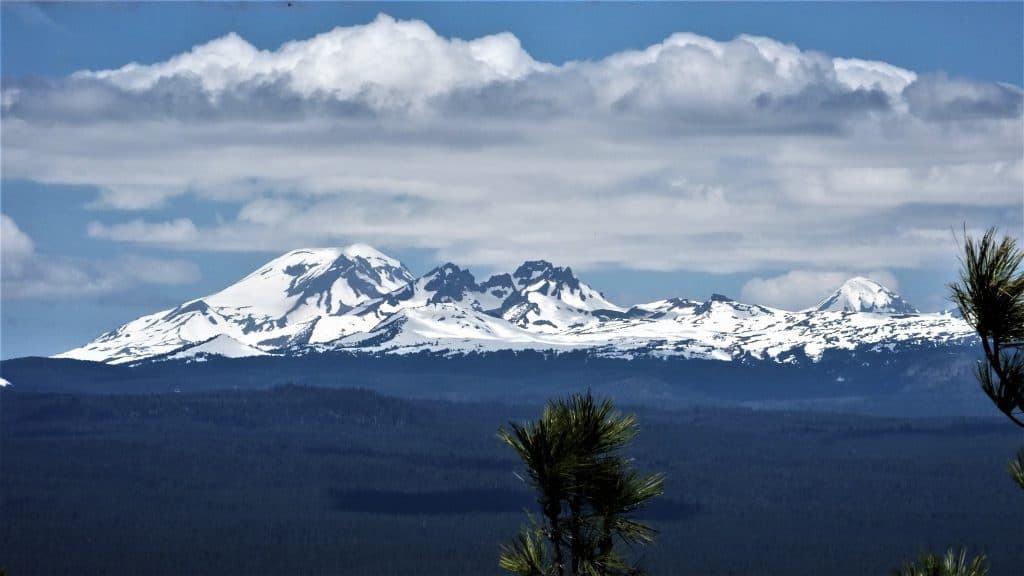 Snow on the Cascade Mountain Range East of Bend Oregon