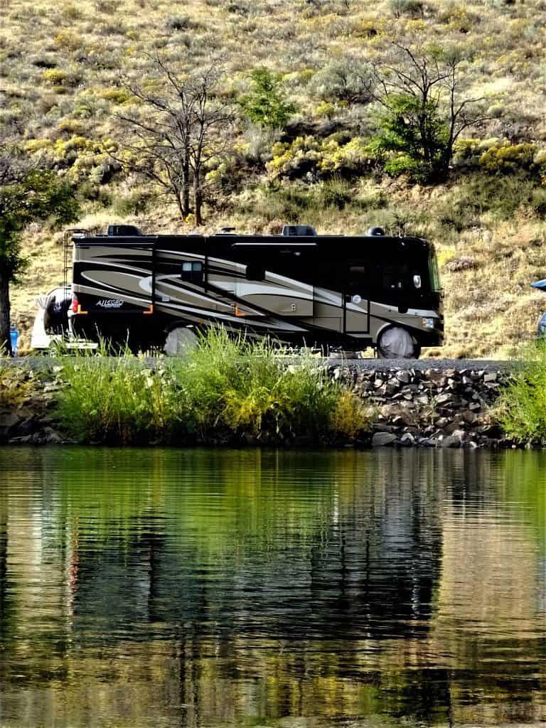 Campsite, John Day River Valley, John Day Lake, LePage, Oregon