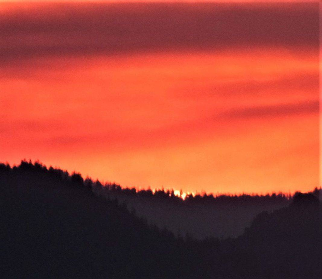 Sunset from the rim of Crater Lake Oregon