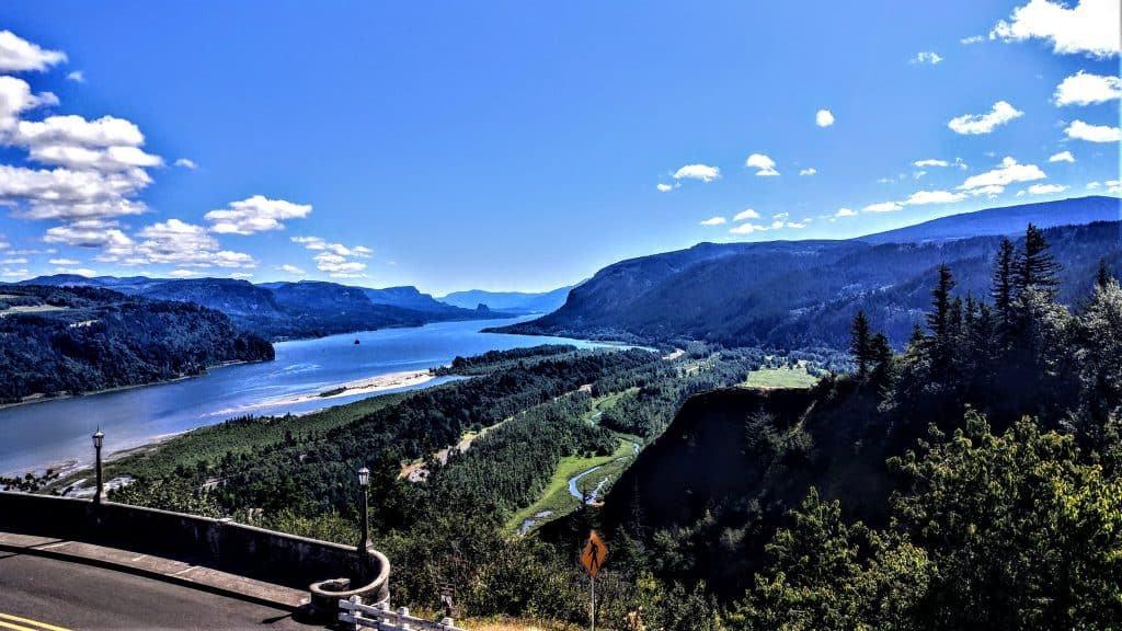 Columbia River Gorge east of Portland, Oregon
