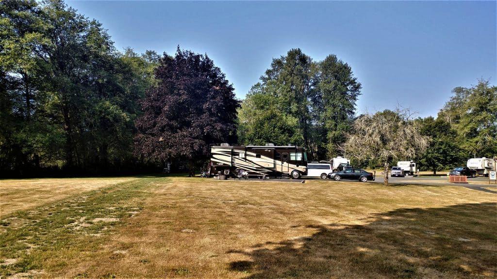 Our campsite Howard Miller Steelhead Rockport Washington