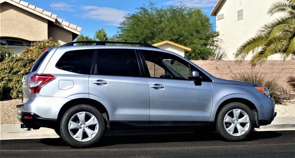 Our new (to us) toad (tow car) Subaru Forester