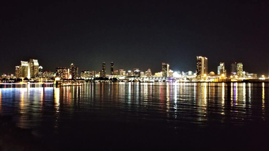 San Diego Bay, from our RV front window