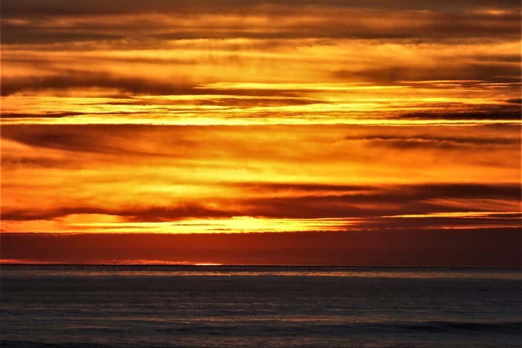 Sunset Pacific Ocean San Diego California