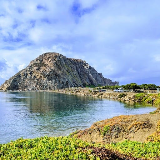 View of Morro Rock, Morro Bay, California