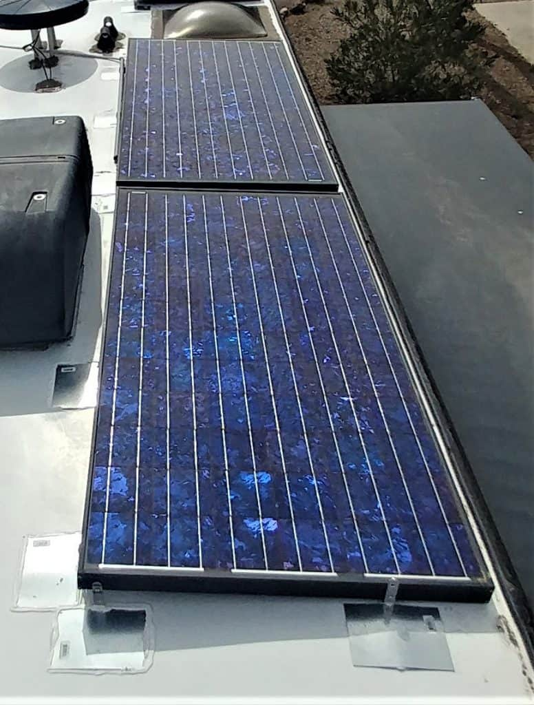 Solar mounting points during installation