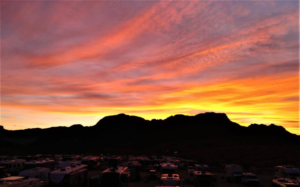 Arizona Sunset afterglow, Lake Havasu