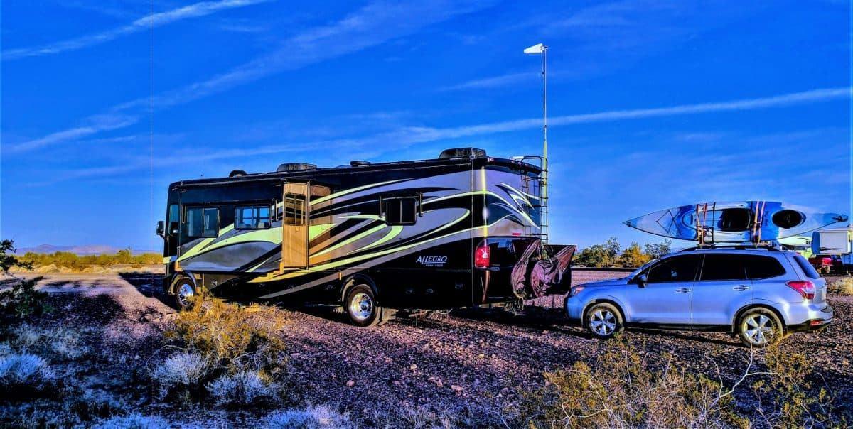 Our Campsite (HDR enhanced) at Quartzsite