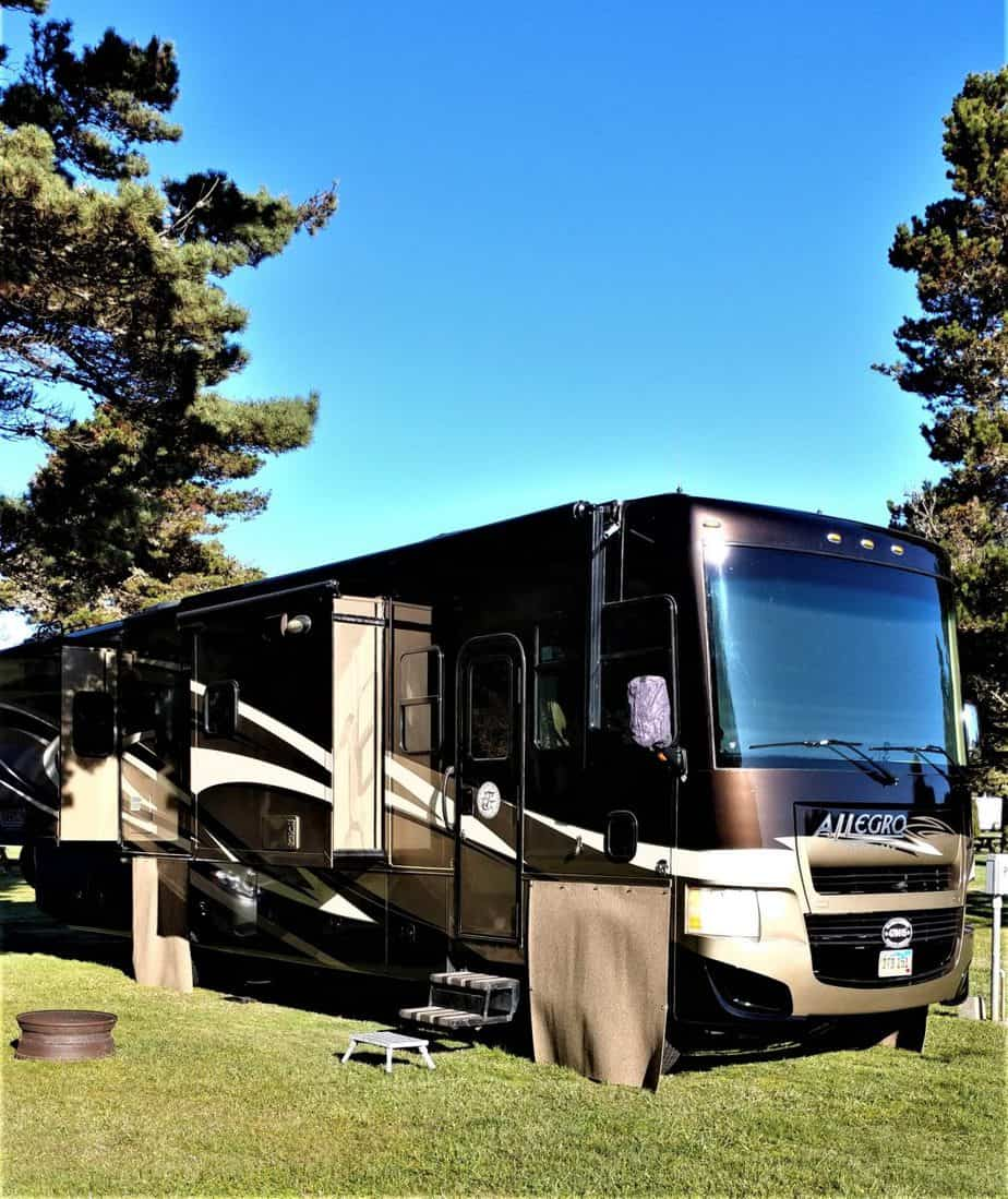 Our RV in the California Redwoods