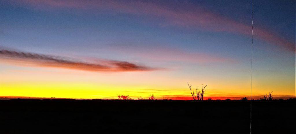 Skyline after sunset near Yuma