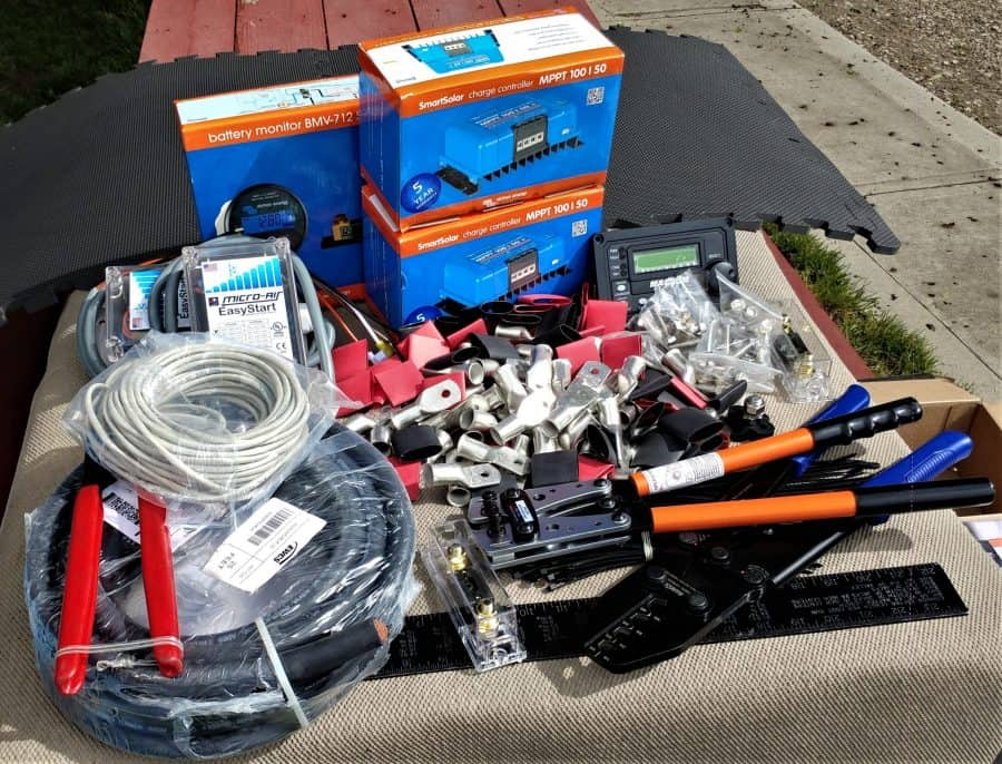 battery and solar parts