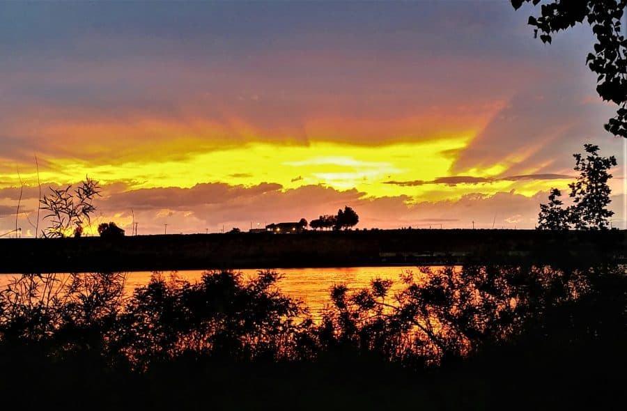 Sunset at Hood Park, Snake River