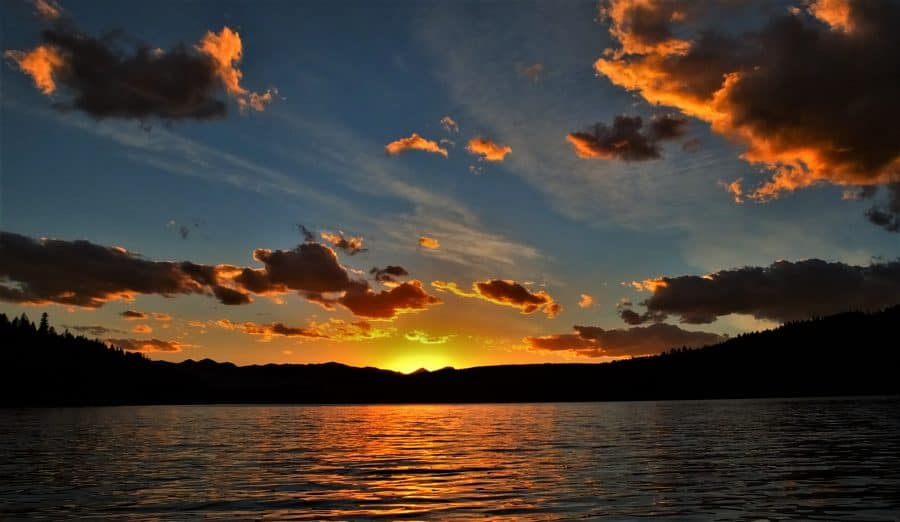 Sunset at Holland Lake