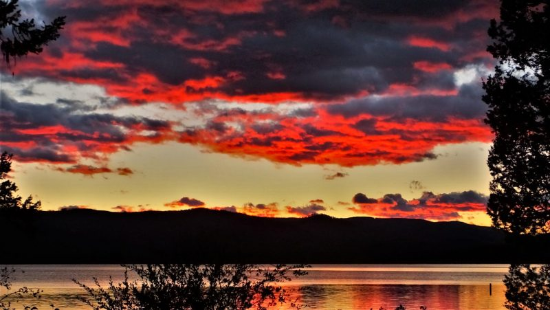 Sunset at Placid Lake