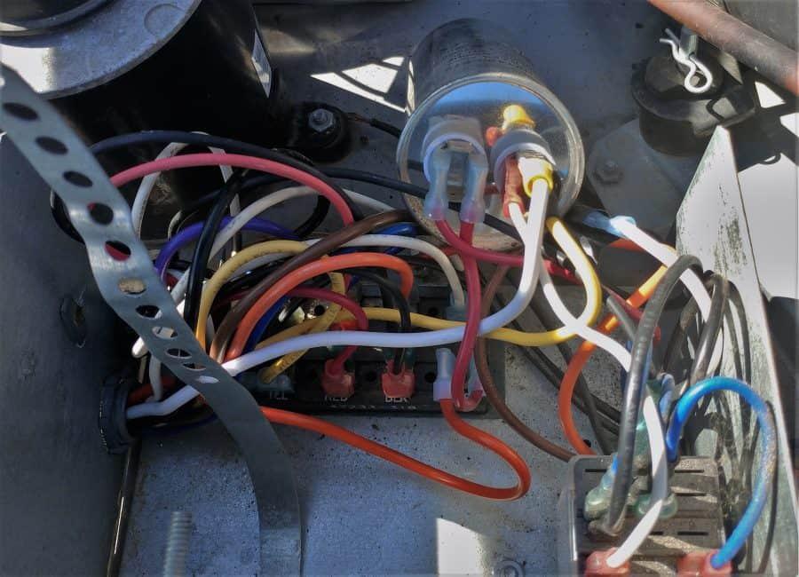 Coleman Mach 8 Run Capacitor and Terminal Block