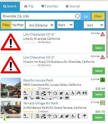 RV Parky Alerts