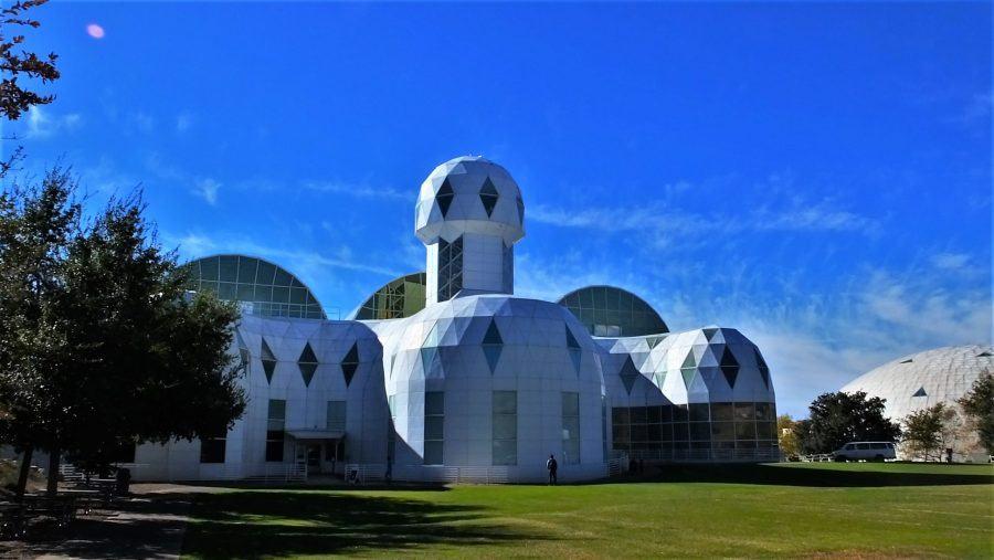 Biosphere 2 experiment living quarters.