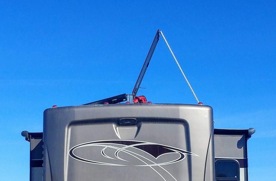 Zamp Obsidian Solar panel tilt test