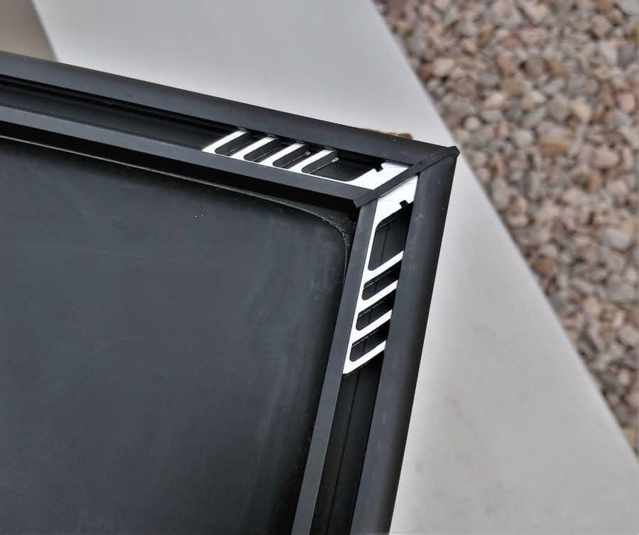 Corner detail of the back of the Zamp Obsidian Solar Panel