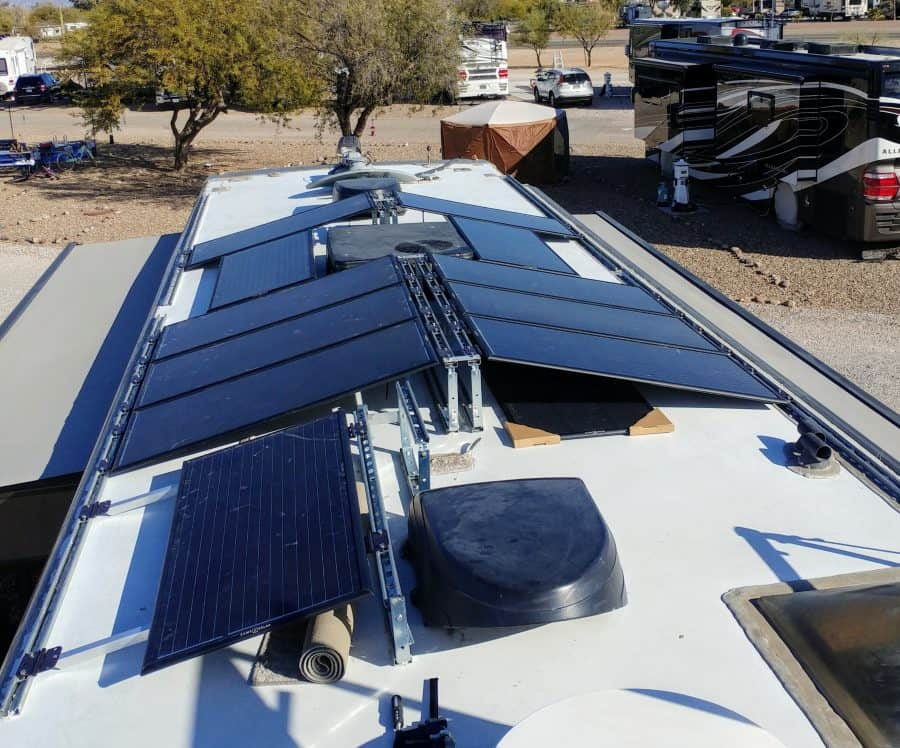Zamp Obsidian Solar Panel Layout, front portion of the roof.