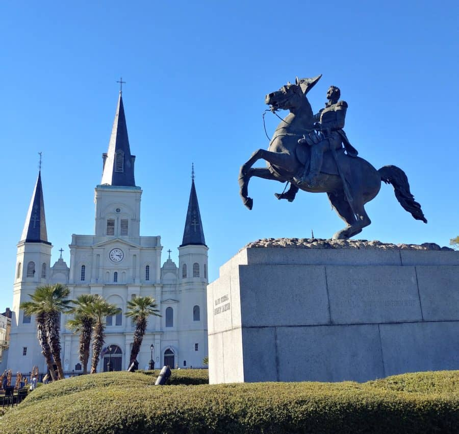 Jackson Square, New Orleans Louisiana Between Mississippi Storms.