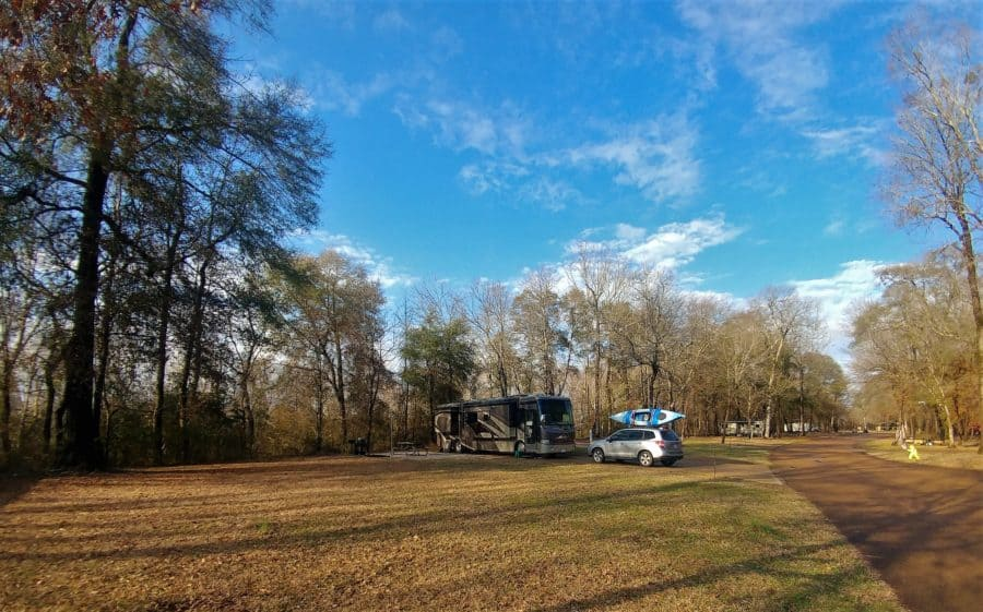 Our campsite at Columbus between Mississippi Storms.
