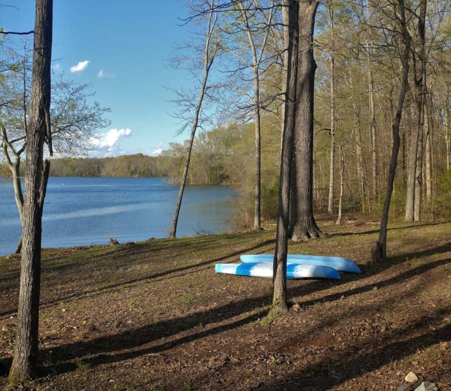 Our Lake front campsite at Tims Ford