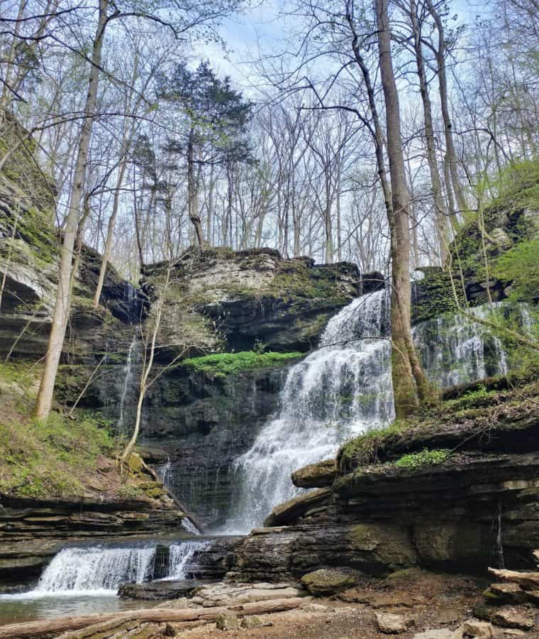 Tennessee Waterfall at Old Stone Fort State Park