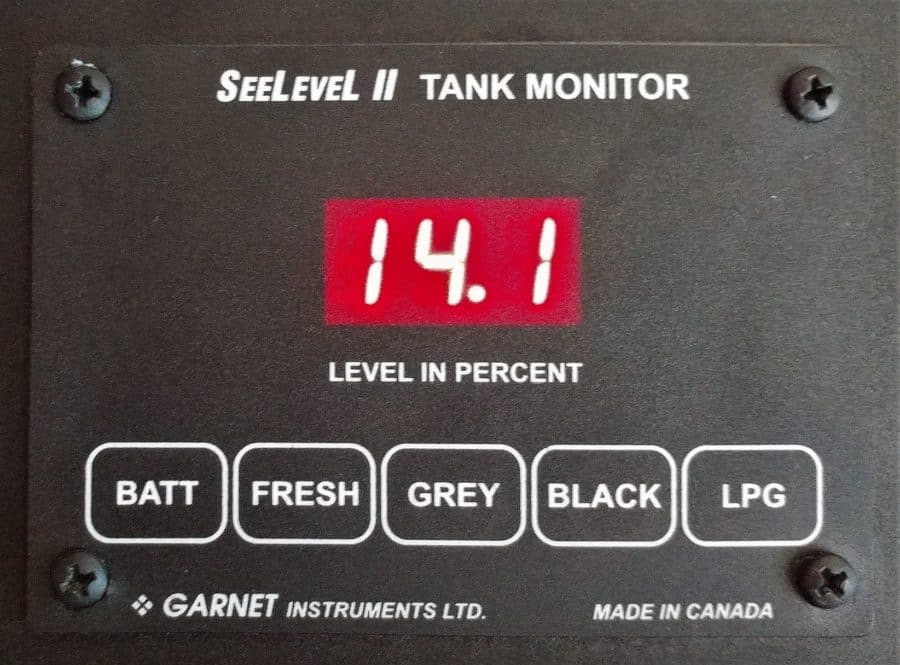 SeeLevel Tank Monitor AGM battery voltage