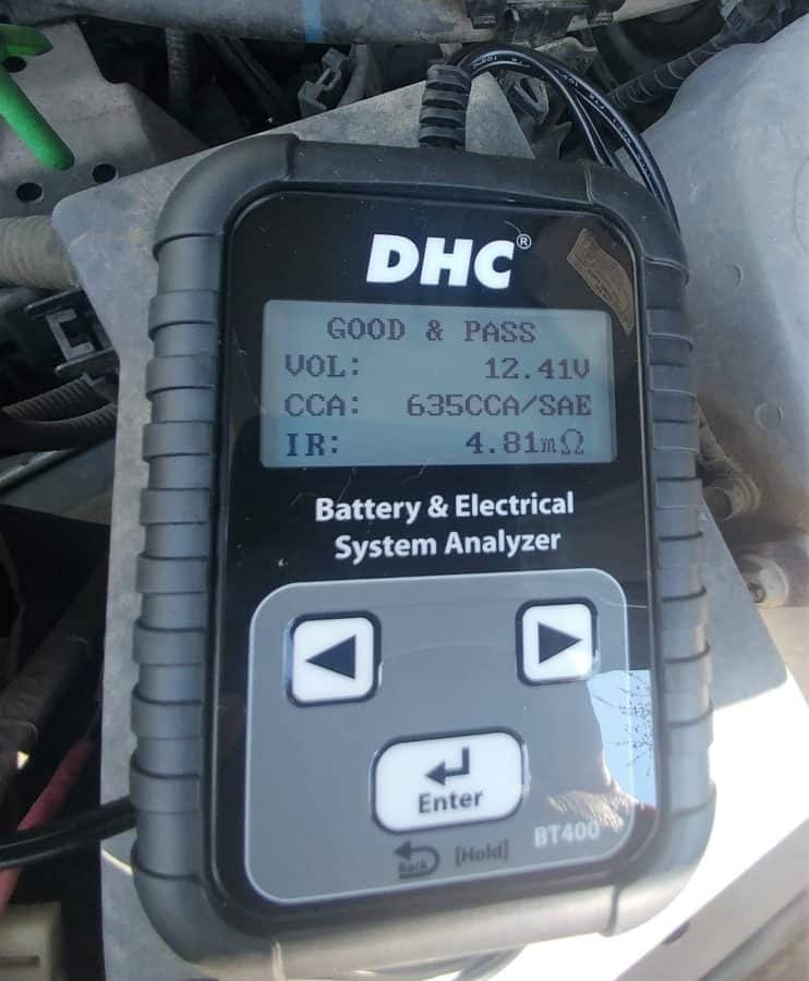 Test results from my car battery.