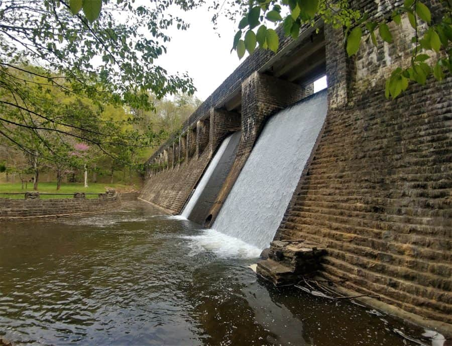 Standing Stone State Park WPA Dam More Tennessee Waterfalls